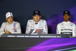 The post race FIA Press Conference: second place Valtteri Bottas, Williams, race winner Nico Rosberg