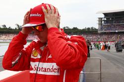 Kimi Raikkonen, Ferrari en la parrilla