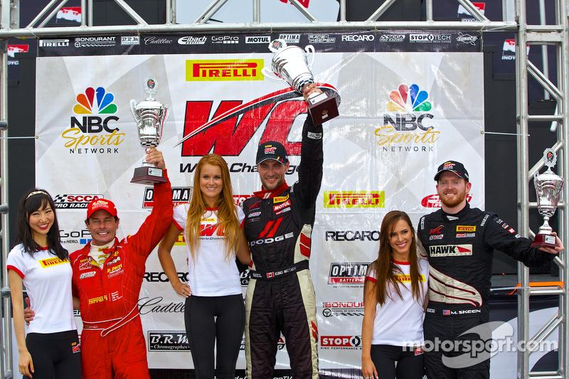 Classe GT Podio: il vincitore della gara Kuno Wittmer, il secondo posto Anthony Lazzaro, il terzo posto Mike Skeen