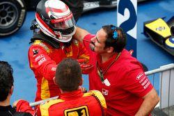 Race winner Stefano Coletti celebrates