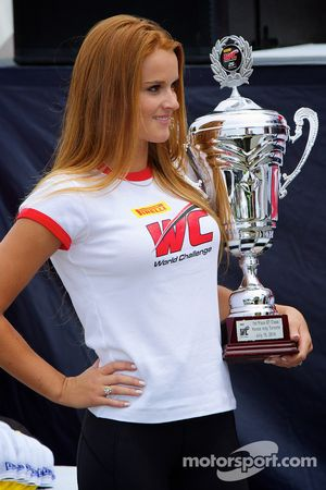 PWC Winners Podium Girl