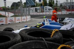 Dale Coyne本田车队的卡洛斯·尔塔斯遭遇事故