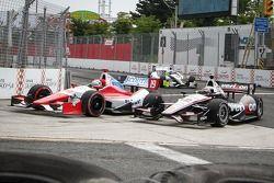 Justin Wilson, Dale Coyne Racing Honda et Will Power, Penske Racing Chevrolet