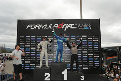 Podium: winner Darren McNamara, second place Dean Kearney, third place Chris Forsberg