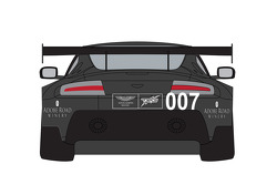 New livery on the #007 TRG-AMR Aston Martin V12 Vantage