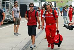 Fernando Alonso, Ferrari con Fabrizio Borra, Ferrari Physio