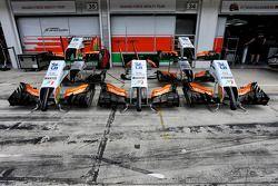 Sahara Force India F1 VJM07 nosecones