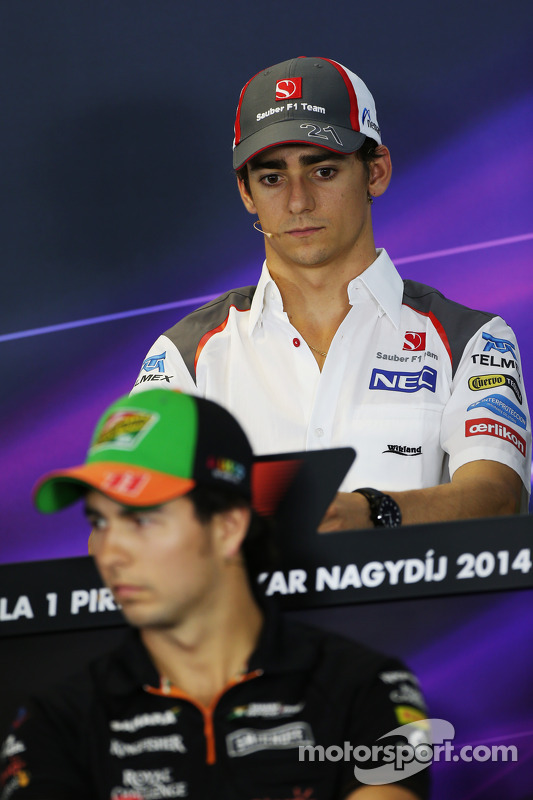 Esteban Gutierrez, Sauber ve Sergio Perez, Sahara Force India F1 FIA Basın Konferansı'nda