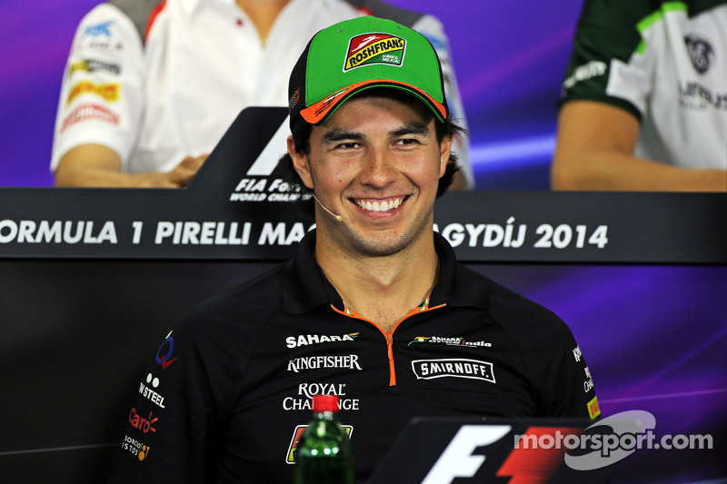 Sergio Perez, Sahara Force India F1, alla conferenza stampa FIA