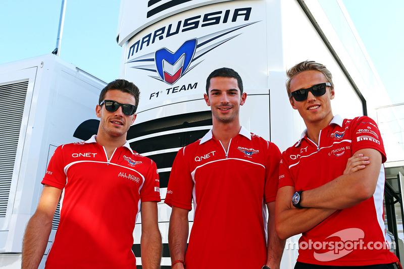 Jules Bianchi, Marussia F1 Takımı ve Alexander Rossi, Marussia F1 Takımı Yedek Pilotu ve Max Chilton