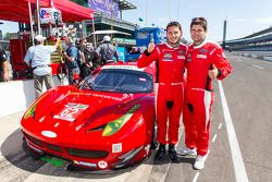 Prima fila GTLM Giancarlo Fisichella e Pierre Kaffer