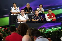 The FIA Press Conference, Sauber Team Principal; Dr. Vijay Mallya, Sahara Force India F1 Team Owner;