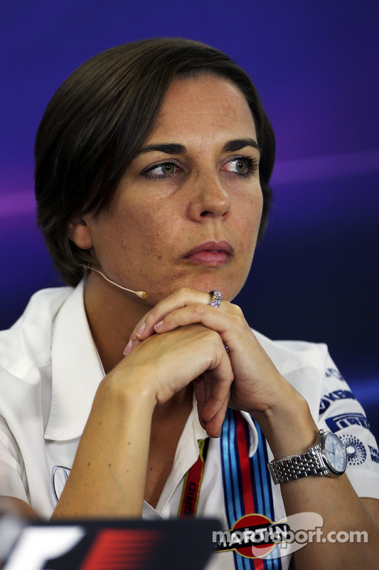Claire Williams, diretora da Williams, na coletiva de imprensa