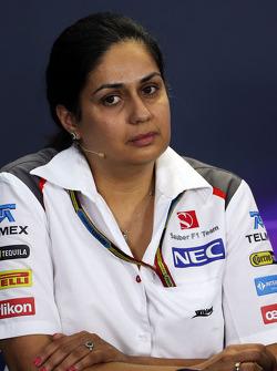 Monisha Kaltenborn, director del equipo Sauber en la Conferencia de prensa FIA