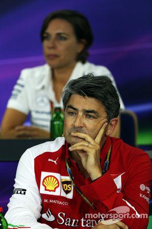 Marco Mattiacci, Ferrari Team Principal in the FIA Press Conference