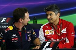 Christian Horner, Red Bull Racing Team Principal and Marco Mattiacci, Ferrari Team Principal in the FIA Press Conference