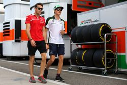 Jules Bianchi, Marussia F1 Team and Marcus Ericsson, Caterham F1 Team