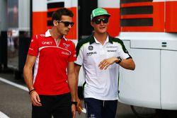 Jules Bianchi, Marussia F1 Team with Marcus Ericsson, Caterham