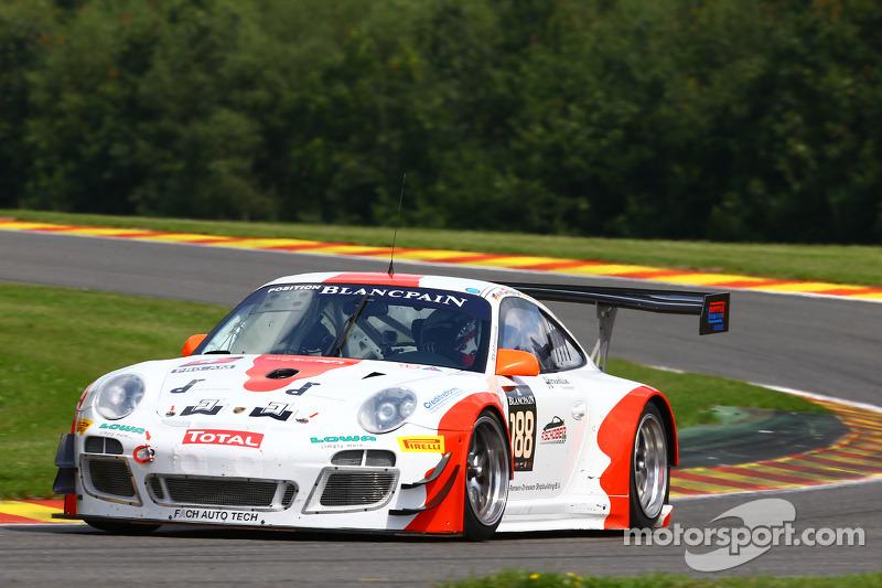 #188 Fach Auto Tech Porsche 997 GT3 R: Otto Khlos, Martin Ragginger, Philipp Frommenwiler, Swen Dolenc