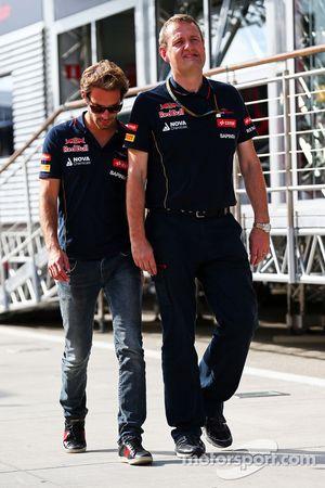 Jean-Eric Vergne, Scuderia Toro Rosso with Steve Nielsen, Scuderia Toro Rosso Sporting Director