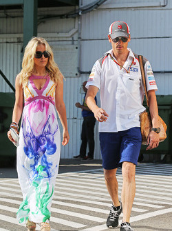 Adrian Sutil, Sauber con su novia Jennifer Becks