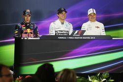 Sebastian Vettel, Nico Rosberg and Valtteri Bottas