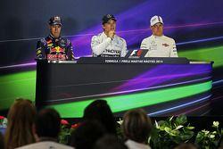 Sebastian Vettel, Nico Rosberg e Valtteri Bottas