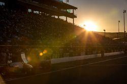 Sun setting at Sonoma raceway
