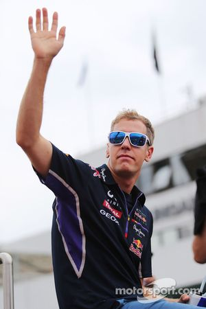 Sebastian Vettel, Red Bull Racing on the drivers parade.