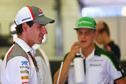 Adrian Sutil, Sauber en el desfile de pilotos.