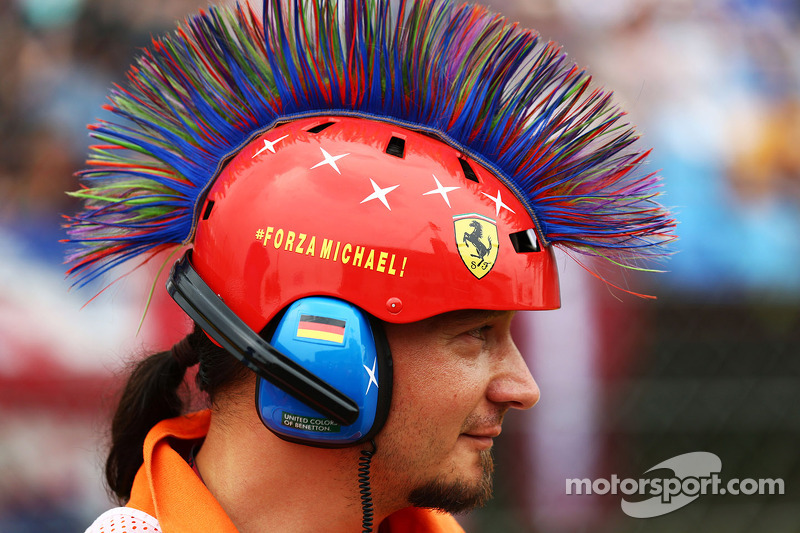 Casco de Michael Schumacher, .