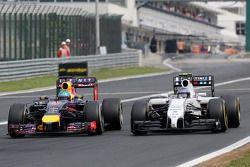 Sebastian Vettel, Red Bull Racing Valtteri Bottas, Williams F1 Team