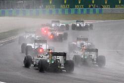 Start of the race, Sergio Perez, Sahara Force India