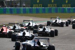 GP3 cars at the start