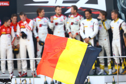#1 Belgian Audi Club Team WRT Audi R8 LMS ultra: René Rast, Laurens Vanthoor, Markus Winkelhock, #3