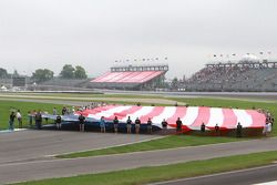 A giant American flag in turn one