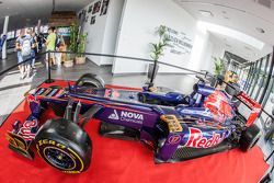 Toro Rosso car in the grandstand building