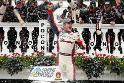 Austin Dillon celebrates