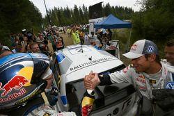 Winnaar Jari-Matti Latvala en Andreas Mikkelsen