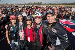Craig Lowndes with singer Troy Cassar-Daley