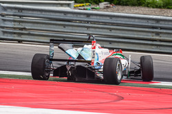 Dennis van De Laar, Prema Powerteam Dallara F312 Mercedes after a collision with Sean Gelael, Jagonya Ayam with Carlin Dallara F312 Volkswagen