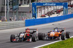 Restart: Esteban Ocon, Prema Powerteam Dallara F312 Mercedes and Felix Rosenqvist, kfzteile24 Mücke Motorsport Dallara F312 Mercedes collide