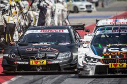 Pascal Wehrlein, HWA, DTM Mercedes AMG C-Coupé, und Marco Wittmann, BMW Team RMG, BMW M4 DTM
