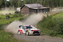 Mads Ostberg and Jonas Andersson, Citroën DS3 WRC, Citroën Total Abu Dhabi World Rally Team