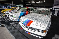 Vintage BMW display in the paddock