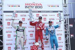 Scott Dixon, Chip Ganassi Racing Chevrolet, Sébastien Bourdais, KVSH Racing Chevrolet and James Hinc