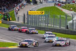Timo Scheider, Audi Sport Team Phoenix Audi RS 5 DTM and Joey Hand, BMW Team RBM BMW M4 DTM