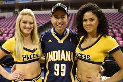 Jorge Lorenzo with Indiana Pacers cheerleaders