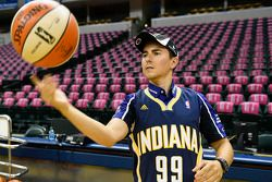 Jorge Lorenzo visits the Indiana Pacers