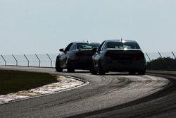 #84 BimmerWorld Racing BMW 328I:James Clay, Jason Briedis ; #46 Fall-Line Motorsports BMW M3 Coupe: Trent Hindman, John Edwards